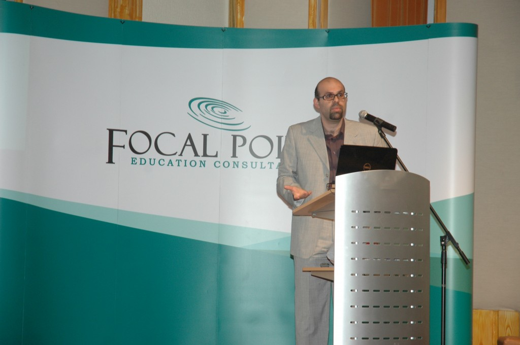 Mr Hamine Hamdan of Focal Point Management Consultancy during his presentation on Project Based Learning.