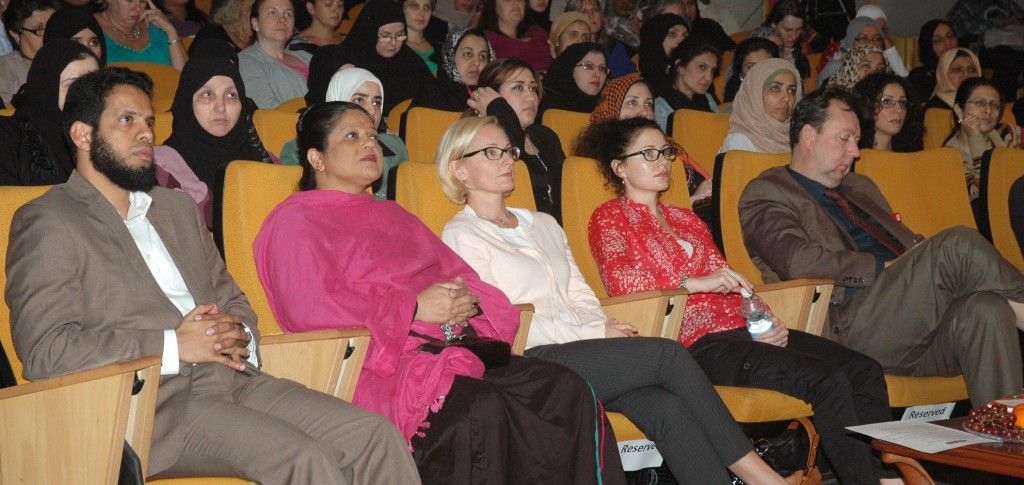Members of the audience pay rapt attention to one of the presenters at the Teachers' Idea Forum