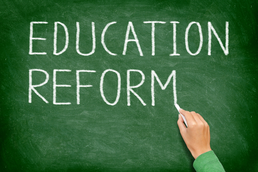 Education reform - school reform blackboard