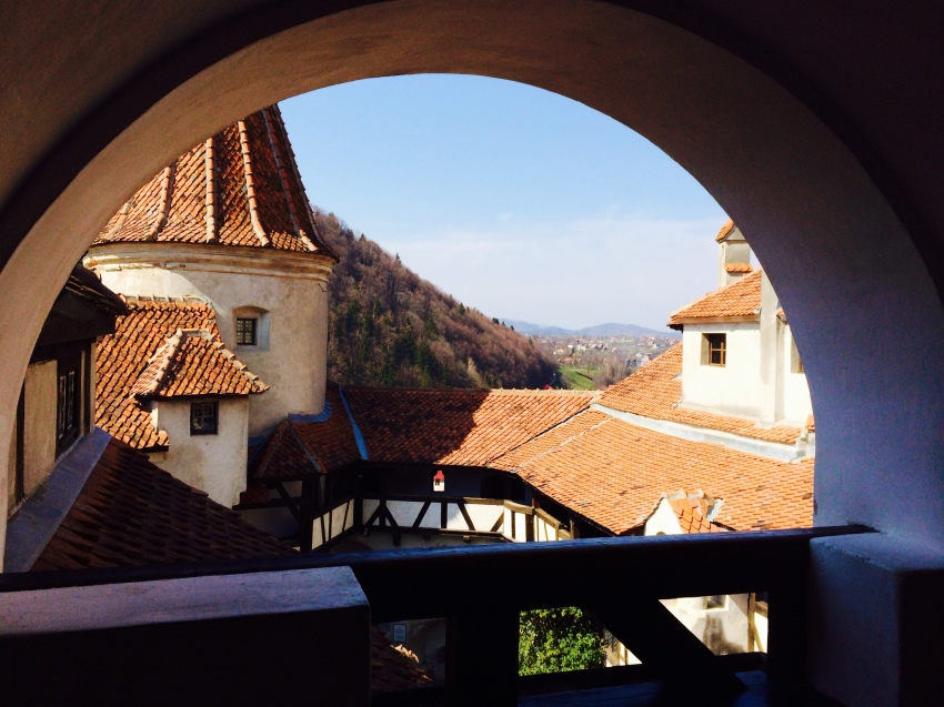 View from Dracula's Castle