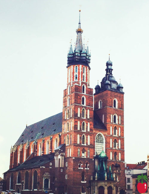 St Mary's Basilica lies opposite the Main Market Square in Krakow, Poland. (Photo Credit: Richie Chin)