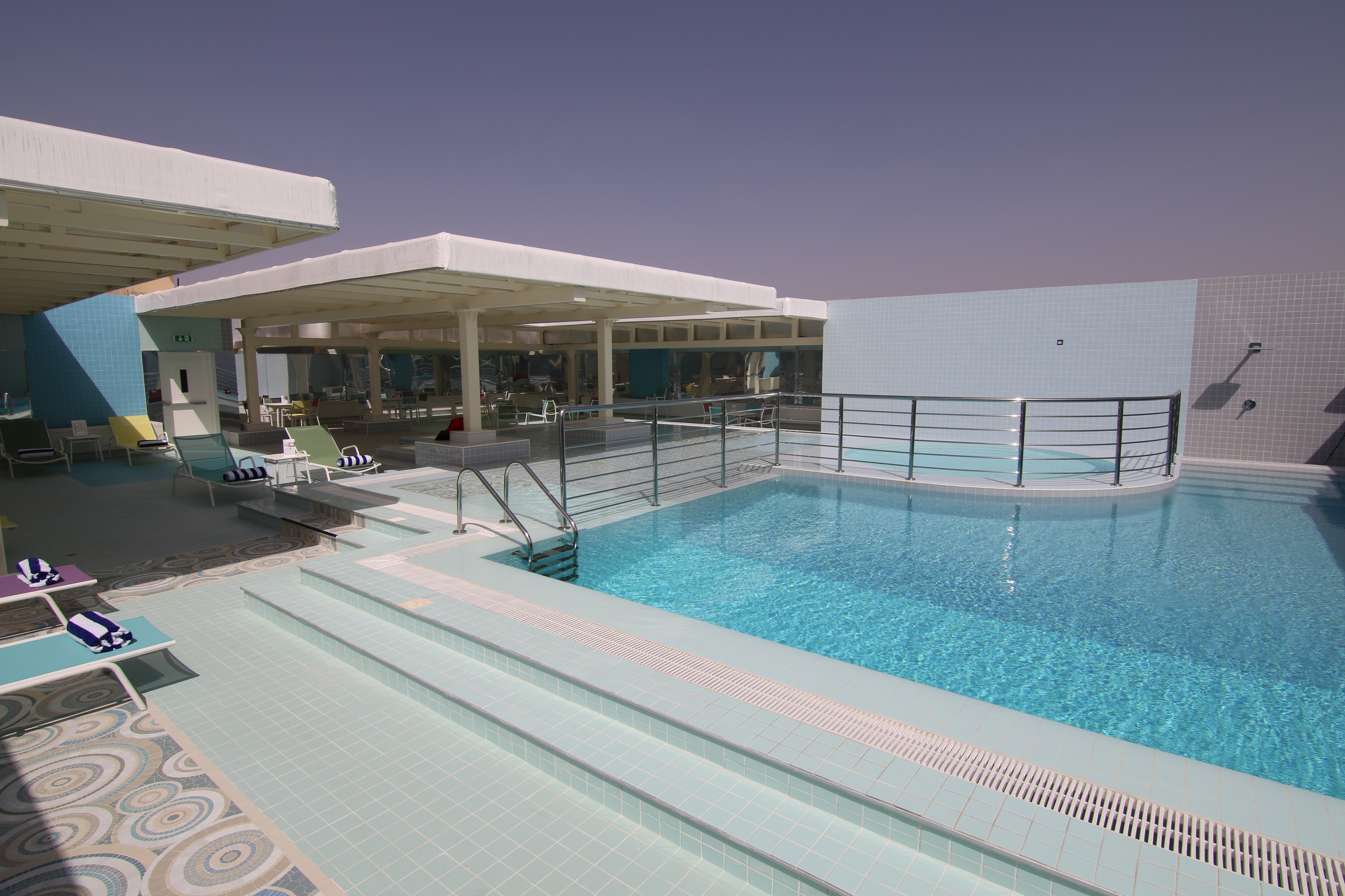 Win a getaway for two to beautiful al ain at the brand new for Rooftop swimming pool