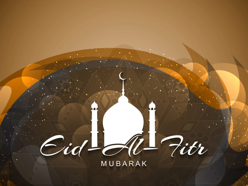 Artistic religious Eid Al Fitr mubarak card design