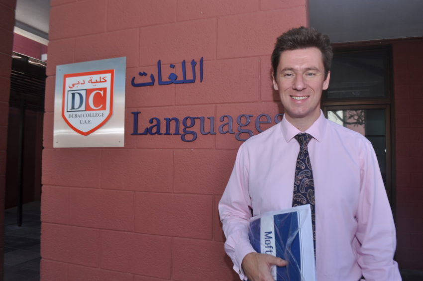 Mr Mike Lambert, Teacher of Latin, Greek and Classical Civilisation at Dubai College.