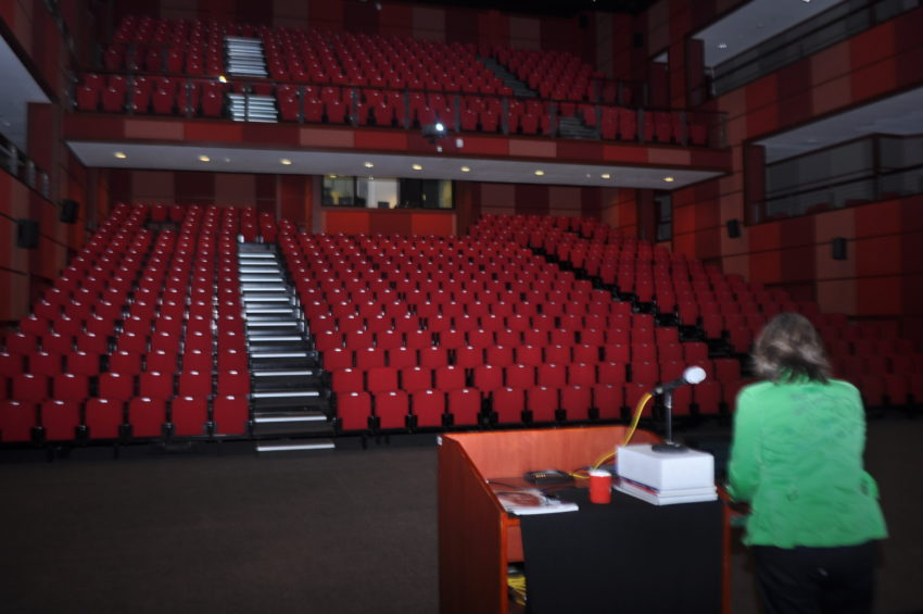 A view of the state of the art, 900 seater auditorium at Dubai College.