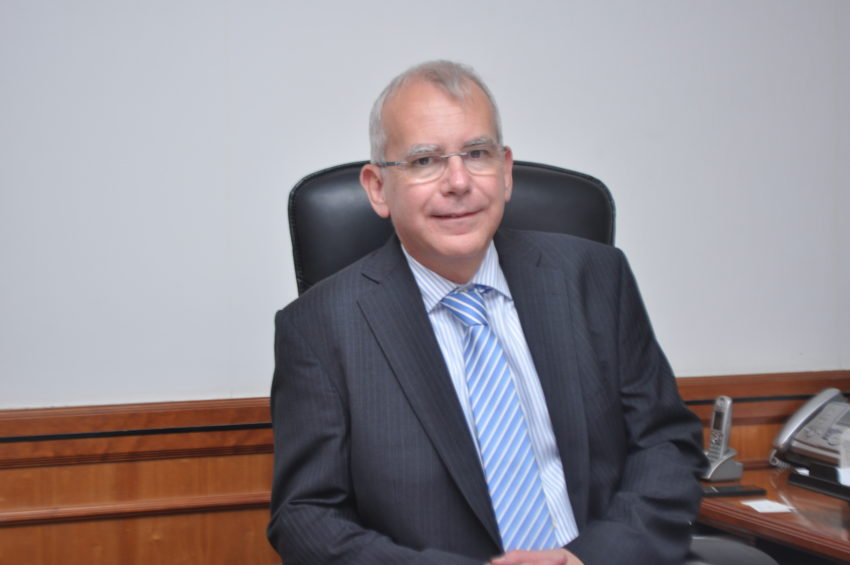 Mr Peter Hill, former Headmaster at Dubai College.